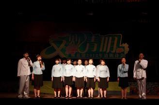 2012.03.31晚7点30,常德师范学校师范部第二届清明诗会在学校大礼堂隆重举行 。.JPG