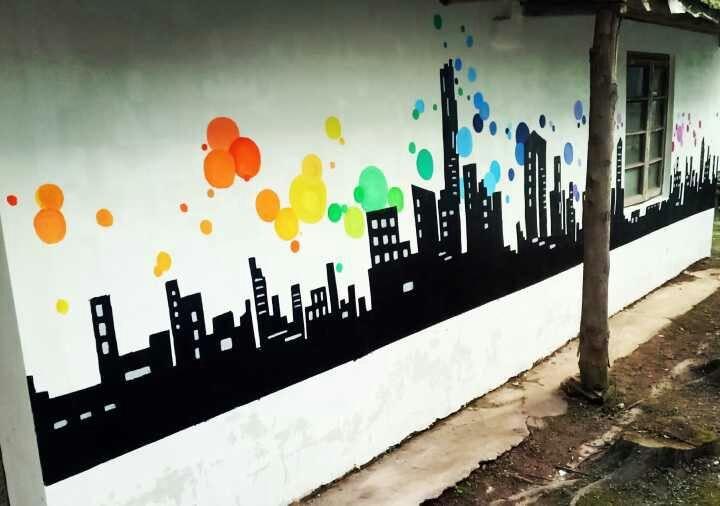 手绘墙作品